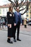 Milão, Milão, inverno 2015 2016 do outono da semana de moda das mulheres Foto de Stock