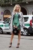 Milão, Milão, inverno 2015 2016 do outono da semana de moda das mulheres Fotos de Stock