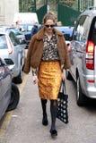 Milão, Milão, inverno 2015 2016 do outono da semana de moda das mulheres Imagens de Stock