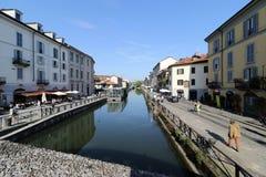 Milão, Milão o distrito do navigli Imagens de Stock Royalty Free