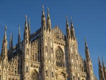 Milão: o domo da catedral Foto de Stock Royalty Free