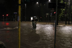 Milão o excesso de seveso do fiume Foto de Stock