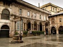 Milão, praça Mercanti Foto de Stock