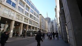 Milão Vittorio Emanuele II video estoque