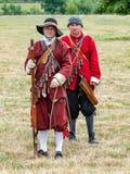 Milícia inglesa da guerra civil, parque de Spetchley, Worcestershire, Inglaterra fotos de stock