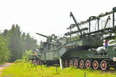 305-milímetro arma ferroviario TM-3-12 Fotos de archivo libres de regalías