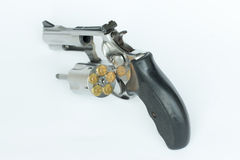 .38 milímetro. isolado da arma no fundo branco Fotografia de Stock Royalty Free