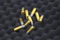 9 milímetros de munición Foto de archivo libre de regalías