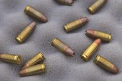 9 milímetros de munición Fotos de archivo