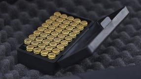9 milímetros de munición Imagenes de archivo