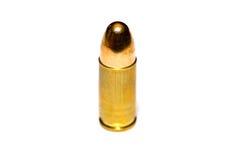 9 milímetros ou bala 357 no fundo branco Fotografia de Stock Royalty Free