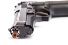 9 milímetros. revólver Fotografia de Stock