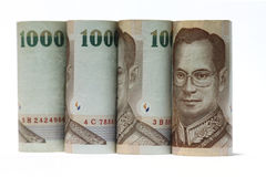 Mil billetes de banco de Tailandia del baht Foto de archivo