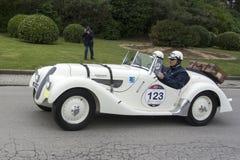 1000 mil, BMW 328 (1938), BACCANELLI Maximo, GACHE Alejandro Royaltyfria Foton