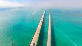 7 mil bro flyg- sikt Florida tangenter, maraton, USA Arkivfoton