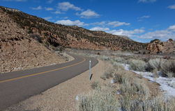 9 mil Canyon Road Fotografering för Bildbyråer