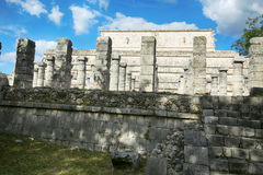 Mil Columnas Ruins på Chichen Itza Royaltyfri Foto