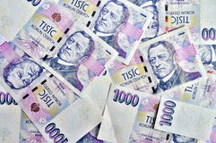 Mil coroas checas Imagens de Stock Royalty Free