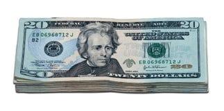 Mil dólares (com trajeto de grampeamento) Imagens de Stock Royalty Free