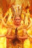 Mil danzas de la mano en China fotografía de archivo libre de regalías