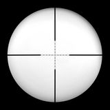 Mil Dot Gun Scope. Mil-dot gun scope/cross hairs. Insert your own image in background by using multiply Royalty Free Stock Photography