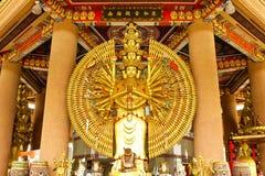 Mil estatuas de buddha de las manos Imagen de archivo