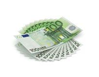 Mil euros Fotos de archivo libres de regalías