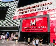 Mil för det planetHollywood miraklet shoppar Royaltyfri Fotografi