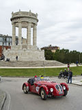 1000 mil, Healey 2400 Silverstone (1950), BECCHETTI Marco, BECC Royaltyfria Bilder