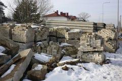 Mil ladrillos blancos viejos del silicato Fotos de archivo libres de regalías