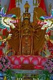 Mil-mão Quan Yin Bodhisattva em um templo Tailândia Ang Thong do wat Fotos de Stock