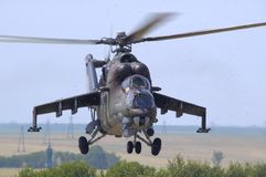 Mil Mi-24 Hinter Lizenzfreie Stockbilder