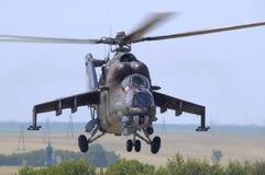Mil Mi-24 posteriore Immagini Stock Libere da Diritti