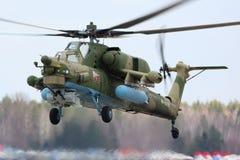 Mil Mi-28N nocy myśliwy RF-13629 Rosyjska siły powietrzne podczas zwycięstwo dnia parady próby przy Kubinka bazą lotniczą Zdjęcie Royalty Free