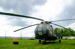 The Mil Mi-8 Russian: Ми-8, NATO reporting name: Hip Hip-H multipurpose helicopter. Kyiv, Ukraine - May 11, 2019: The Mil Mi-8 Russian: Ми-8, NATO stock image