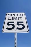 55 mil na godzinę znak zdjęcia stock