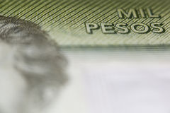 Mil pesos, chilean currency Royalty Free Stock Images