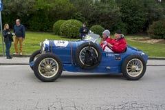 1000 mil, Salmson GS 8 GD Sport (1929), FUSI Claudio och SALA Royaltyfri Bild