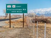 3205 mil till Provincetown, MOR Royaltyfri Fotografi