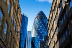 Mil UK för fyrkant för London finansiell områdesgata arkivbild