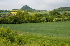 Mila, Ceske Stredohori. Hill Mila in the Ceske Stredohori, Czech republic Stock Images