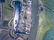 Mila 23 Danube Delta Romania. Traditional fisherman village in D. Anube Delta Royalty Free Stock Image