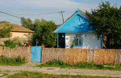 Mila 23, Romania, June 2017: traditional house in Mila 23 fisher. Mans village in Danube Delta Stock Images