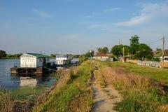Mila 23, Rumunia, Czerwiec 2017: Mily 23 fishermans wioska w Danub Fotografia Stock