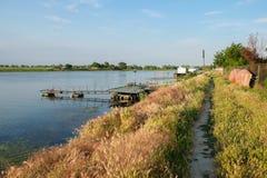 Mila 23, Rumunia, Czerwiec 2017: Mily 23 fishermans wioska w Danub Zdjęcia Royalty Free