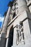 Milaan - Borsa Italiana in BedrijfsVierkant Royalty-vrije Stock Foto's