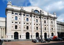 Milaan - Borsa Italiana in BedrijfsVierkant Stock Afbeelding