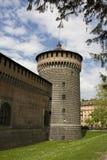 Milaan, Castello Sforzesco Royalty-vrije Stock Afbeelding
