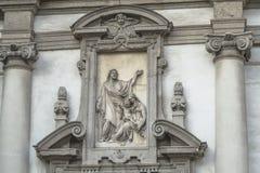 Milaan, de details van San Giuseppe Church stock afbeelding