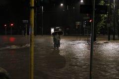 Milaan de fiumeseveso overstroming Stock Foto